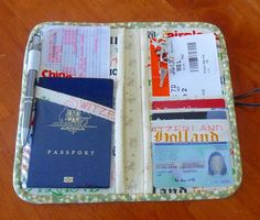 How to Make a Travel Wallet/Organizer
