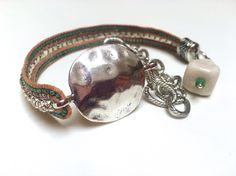 ⠀❂ Handmade wrap chain bracelet  ⠀❂ Genuine leather string ⠀❂ Lobster lock ⠀❂ Metallic tila beads ⠀❂ Picasso seed beads ⠀❂ Rhinestone beads  ⠀❂ Invisible thread  ⠀❂ Stripe link chain   ⠀❂ Porcelain charm   ⠀❂ Two laps, three rows