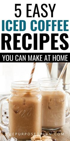 Healthy Iced Coffee, Homemade Iced Coffee, Iced Coffee At Home, Easy Coffee, Coffee Ideas, Green Drink Recipes, Coffee Drink Recipes, Tea Recipes, Cold Coffee Drinks
