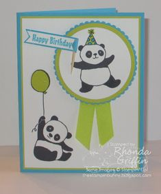 The Stampin' Bunny: Panda Party Birthday Stampin' Up! card