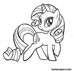 my little pony friendship is magic rarity coloring pages printable coloring pages for kids - My Color Book Printable
