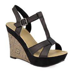 Πλατφόρμες με διακοσμητικό ύφασμα και χιαστί λουριά Wedges, Shoes, Fashion, Moda, Zapatos, Shoes Outlet, Fashion Styles, Shoe, Footwear