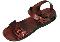 8816842398fd9c Adjustable Single Strap Handmade Leather Biblical Sandals - Solomon