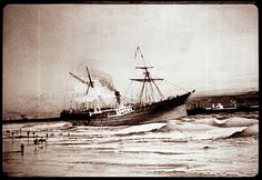 Painting from Blockade Runner Museum at Carolina Beach, NC. This copy was made from a slide in the collection of the North Carolina Museum of History
