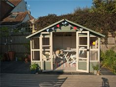 BillyOh Lucia Tongue and Groove Summerhouse - Summerhouses - Garden Buildings Direct Summer House Garden, Dream Garden, Home And Garden, Converted Shed, Garden Buildings Direct, Gardening Direct, Garden Nook, Outdoor Spaces, Outdoor Decor