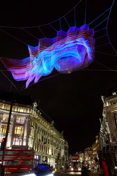 Janet Echelman installation for Lumiere London