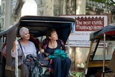 "Dame Judi Dench and Celia Imbrie from ""The Best Exotic Marigold Hotel"", (2013)."