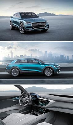 The Audi e-tron quattro concept is an electrci SUV concept from Audi