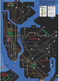 NYC Subway - Night Version - Kick Map