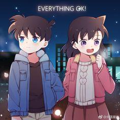 Ran & Shinichi Ran And Shinichi, Kudo Shinichi, Sherlock Holmes, Detective Conan Ran, Detective Conan Wallpapers, Anime Girl Dress, Detektif Conan, Anime Group, Fan Picture