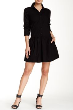 Splendid - Cotton Collection Long Sleeve Shirtdress is now 65% off. Free Shipping on orders over $100.