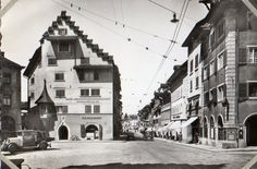 Zug, Switzerland 1952 Switzerland, Street View, Adventure, Life, Train, Adventure Game, Adventure Books