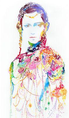 "Print of Watercolour Fashion Illustration 8"" x 10"".  Titled: Warriorink3. $35.00, via Etsy."
