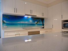 Check out this crucial image as well as look into the offered critical information on Tiny Kitchen Renovation Diy Kitchen Decor, Kitchen Styling, Kitchen Design, Printed Glass Splashbacks, White Gloss Kitchen, Hamptons Kitchen, Glass Printing, Kitchen Units, Glass Kitchen