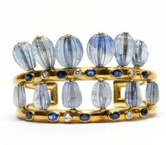 Bracelet of Sapphires and Gold by Suzanne Belperron