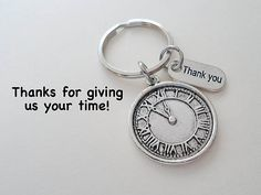 This listing is for 1 keychain. These are great gifts for volunteers or employees and coworkers. The keychain will be attached to a card that says Thanks for giving us your time! There is a flat shipping rate on this item. So the shipping rate will be the same no matter how many you order at once! Check out my other employee/volunteer appreciation items here: https://www.etsy.com/shop/JewelryEveryday/search?search_query=employee&order=date_desc&...