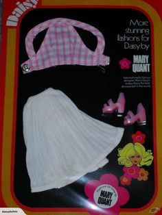 Sewing Inspiration - YEAR Daisy Doll Fashions - Jive 65334 - Gingham Top and Skirt - by Mary Quant Mary Quant, Barbie, Doll Set, Pink Shoes, Beautiful Dolls, Paper Dolls, Fashion Dolls, Gingham, Doll Clothes