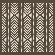 AZTEC Stencil - SOUTHWEST Stencil - TRIBAL Stencils - 12 x 12 - 7 mil Mylar - Durable and Reusable