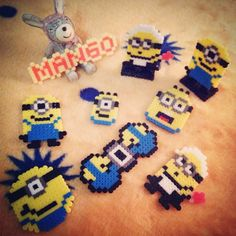 Minions stuff perler beads by crashazy