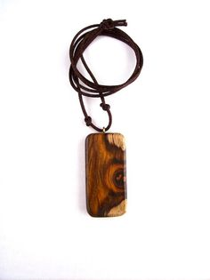 Rectangular Pendant Wooden Jewelry Wood Pendant by GatewayAlpha, $16.95