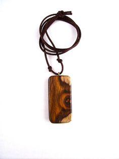 Rectangular Pendant Wooden Jewelry Wood Pendant by GatewayAlpha, $16.95