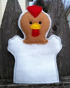 Rooster  Farm Animal Felt Hand Puppet  KiD by ThatsSewPersonal, $7.50