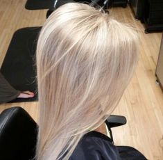 Hair inspiration. While still not ready to fully let my 70%grey/white hair shine through..decided to go blond level 10. Experimenting...