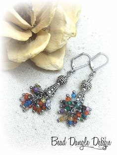 Gemstone Beaded Earrings #594E