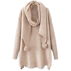 abaday Split Long Sleeves Cream Jumper (1 225 UAH) ❤ liked on Polyvore featuring tops, sweaters, jumpers sweaters, long sleeve tops, cream sweater, long sleeve jumper and cream jumper