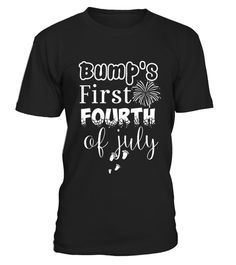 Bump's First Fourth of July Independence Day Pregnancy Shirt