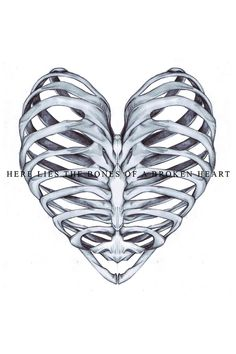 If your heart was broken, you would be dead. The rib design is cool though :P