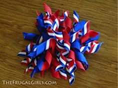 How to make your own curly bow hair thingys for headbands, hair clips, etc.