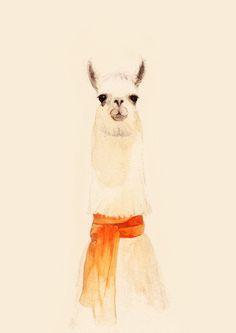 Llama by Elliot Beaumont