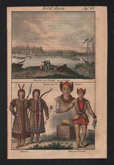 1830 - Tobolsk Yakuts turkic people Russia natives costumes Lithograph | eBay