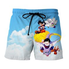Dragon Ball Goku Piccolo Gohan Krillin Bright Color Summer Shorts  #Dragon #Ball #Goku #Piccolo #Gohan #Krillin #Bright #Color #Summer #Shorts