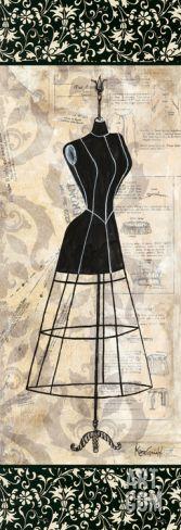 Dress Form Panel I Print by Katie Guinn at Art.com