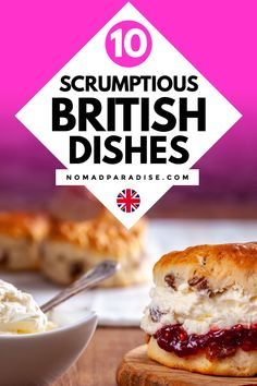 Take a virtual trip to England and the rest of the UK with our list of 10 top English foods & other traditional British Foods to try! Traditional English Food, British Dishes, 10 Top, Evening Meals, Great Recipes, Recipe Ideas, Foodie Travel, I Love Food, Street Food