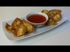 Simple Wonton Recipes- Baked Wonton - YouTube