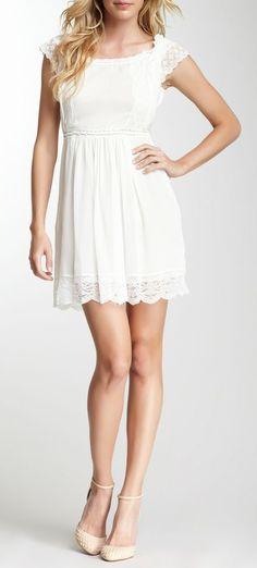 Philosophy by Alberta Ferretti White Georgette Lace Halter Silk Dress--love this dress