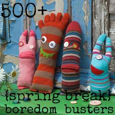 500+  boredom busters for kids