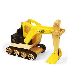 Construction Digger From Pintoy from The Wooden Toybox