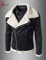 cremallera oblicua de la chaqueta de cuero de los... – EUR € 43.19