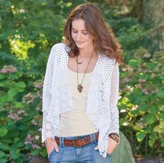 ...I love lacy crocheted cardigans!!