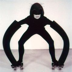 Kuma Kuna, by Maria Blaisse. Kuma Kuna, a project initiated by Maria Blaisse for which she developed an elastic foam to study form in movement. Here is one in a series of costumes in which the wearer is influencing the form of the costume, and vice versa, together forming a fascinating language.