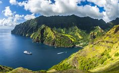 Marquesas Islands in French Polynesia. Untouched Paradise 1500 km North-East of Tahiti