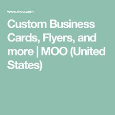 Custom Business Cards, Flyers, and more | MOO (United States)