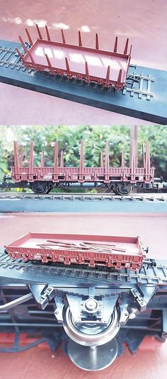 Freight Cars 81017: Marklin Scale Gauge I Flat Car W Stakes 1:32 Db Sprung Buffers And Metal Wheels -> BUY IT NOW ONLY: $135.23 on eBay!