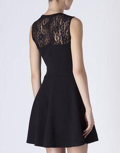 Vestido combinado encaje | SHOP ONLINE SUITEBLANCO.COM