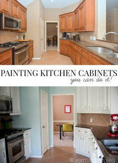 Have you ever thought about painting your kitchen cabinets? Give your cabinets a bright new look with these easy tips for painting kitchen cabinets.