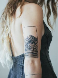 Imagen de tattoo, mountains, and ink